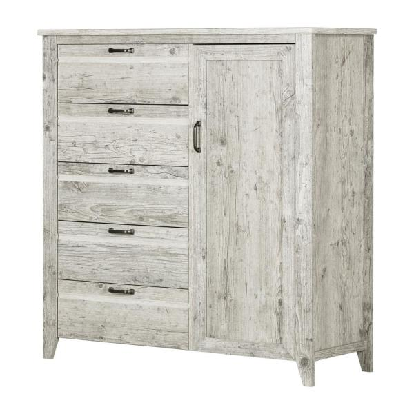 Lionel 5-Drawer Seaside Pine Chest 49.75 in. x 48.25 in. x 18.25 in.