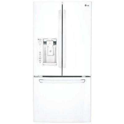33 in. W 24.2 cu. ft. French Door Refrigerator in Smooth White