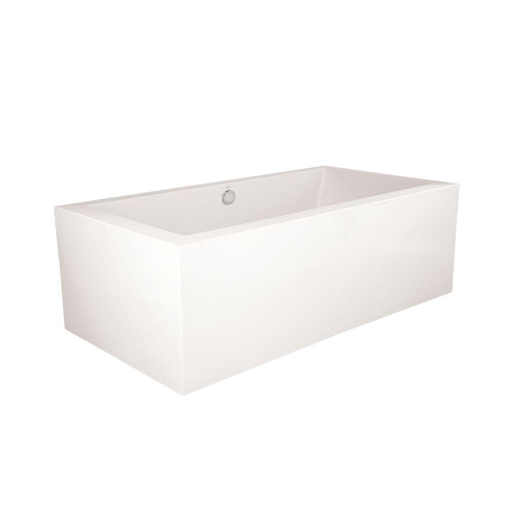 Dover 6 ft. Acrylic Center Drain Freestanding Rectangle Air Bath Tub