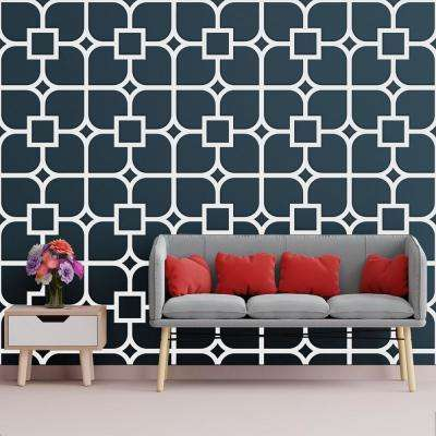 3/8 in. x 23-3/4 in. x 23-3/4 in. Large Olivia White Architectural Grade PVC Decorative Wall Panels