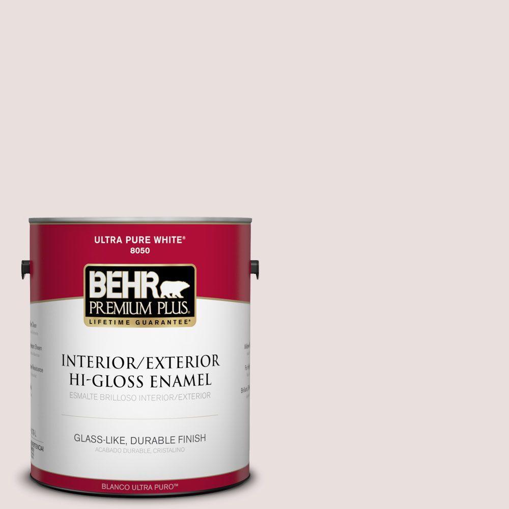 BEHR Premium Plus 1-gal. #N120-1 Parasol Hi-Gloss Enamel Interior/Exterior Paint