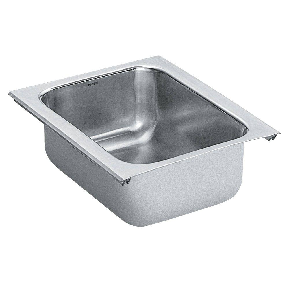 1800 Series Undermount Stainless Steel 11 in. Single Bowl Bar Sink
