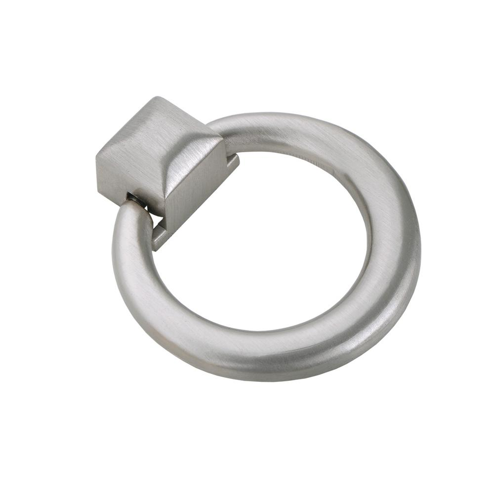 Utopia Alley Anello Ring Cabinet Pull Brushed Nickel 1 6 X 9