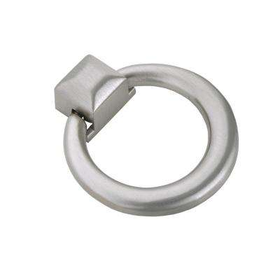 "Utopia Alley Anello Ring Cabinet Pull, Brushed Nickel, 1.6"" x 1.9"""