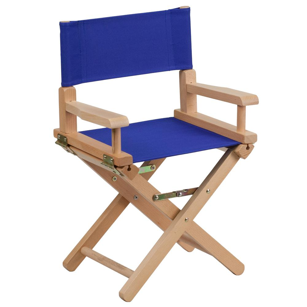 Flash furniture kid size directors chair in blue tyd03bl the home depot