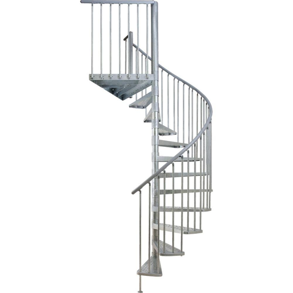 Dolle Toronto 61 in. 16-Tread Spiral Staircase Kit