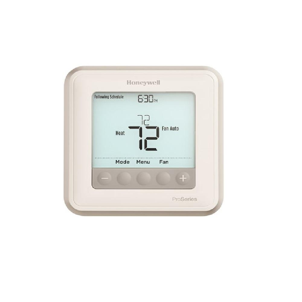 Honeywell T6 Pro 7 Day Digital Programmable Thermostat Th6210u2001 The Home Depot