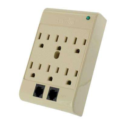 15 Amp 120-Volt 6-Outlet Surge Protected 540 Joules, Beige