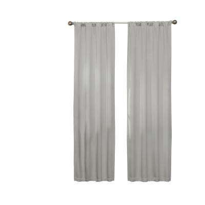 Darrell Blackout Window Curtain Panel in Grey - 37 in. W x 63 in. L