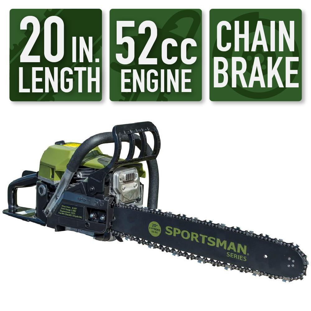 Sportsman 20 in. 52 cc 2-Stroke Gas Chainsaw was $219.0 now $109.0 (50.0% off)
