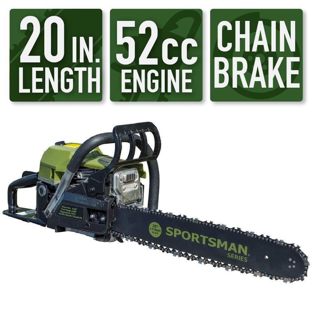 Sportsman 20 in. 52 cc 2-Stroke Gas Chainsaw