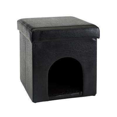 Black Single Foldable Pet Ottoman