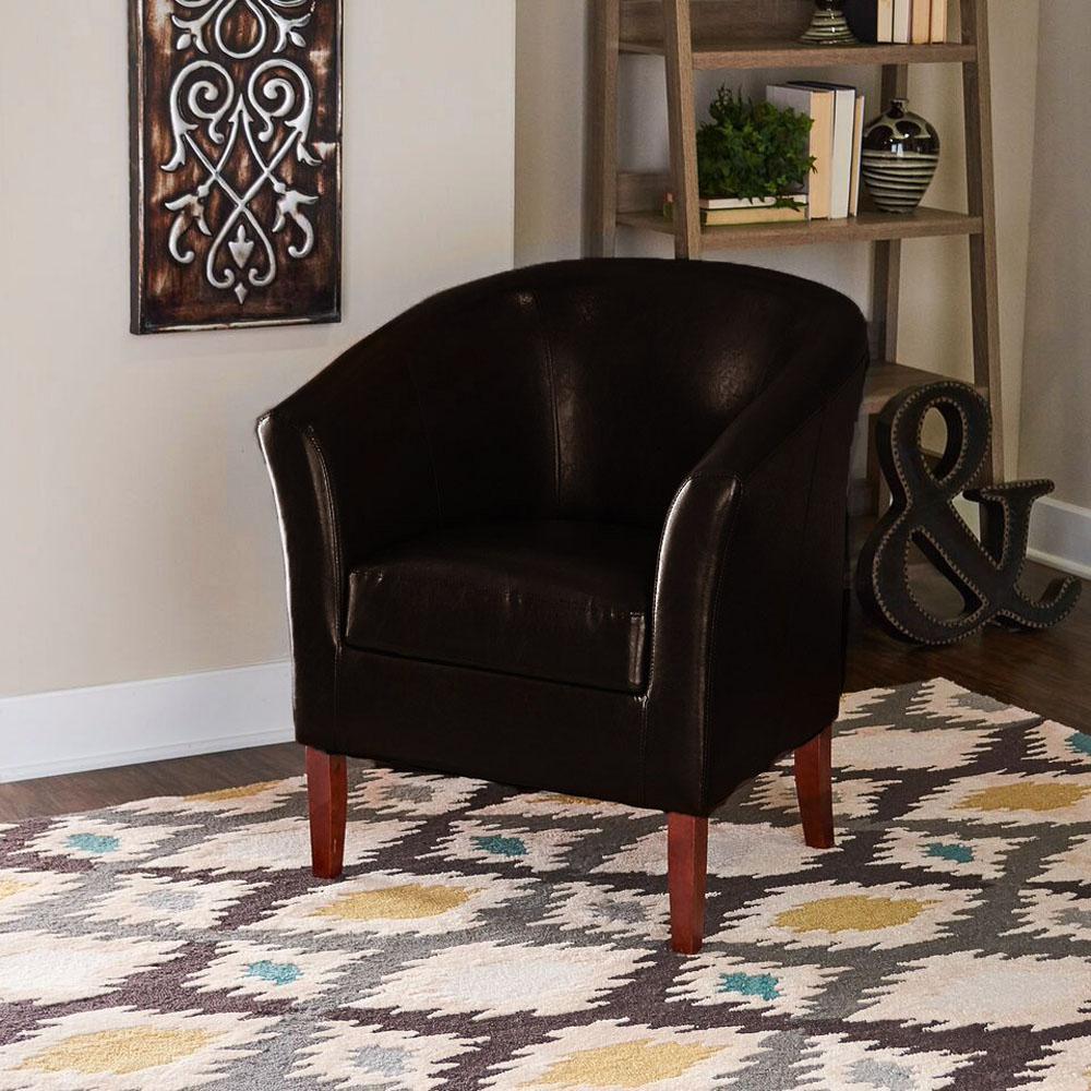 Home Decorators Collection Simon Brown Club Arm Chair