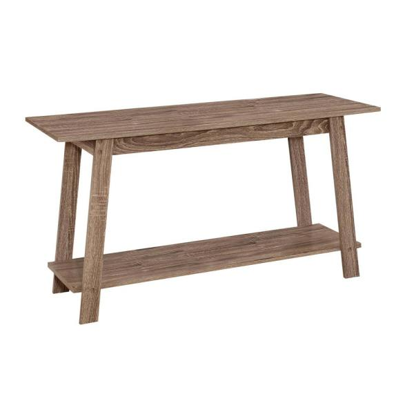 42 in. Dark Taupe Particle Board TV Stand Fits TVs Up to 42 in. with Open Storage