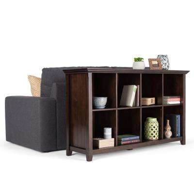 Acadian Tobacco Brown 8-Cube Storage Console Table
