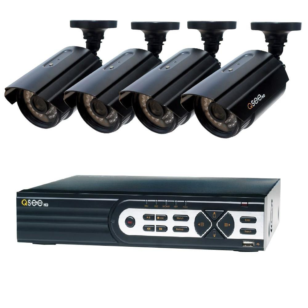 QSEE Q-SEE HeritageHD Series Wired 8-Channel 1080p 2TB Video Surveillance System with (4) 1080p Cameras and 100 ft. Night Vision