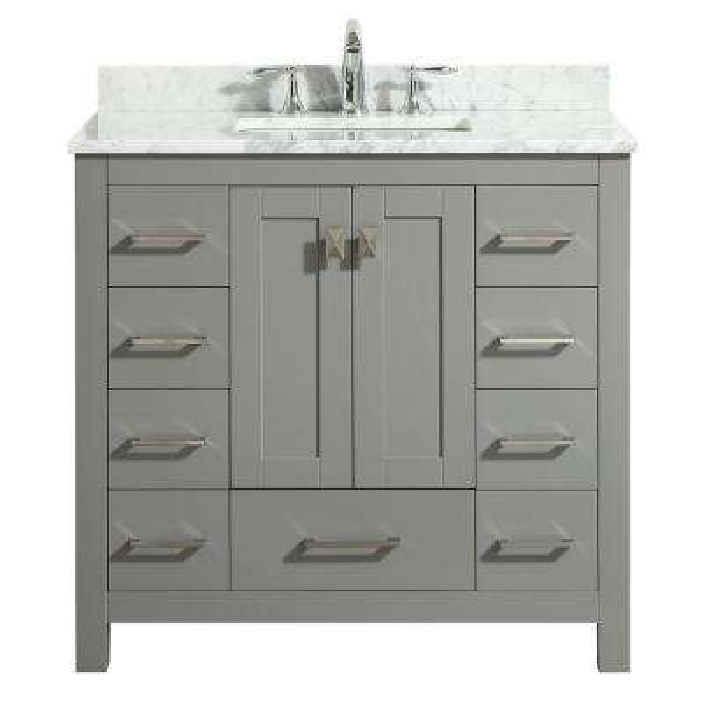 "Hampton 36"" Gray Bathroom Vanity"