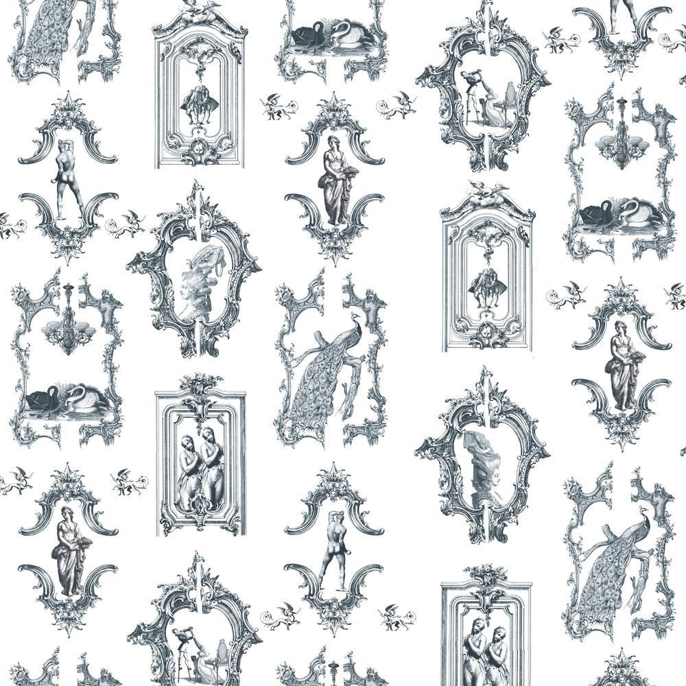 Debut Collection Bottoms Up in Mitchell Black Premium Matte Wallpaper