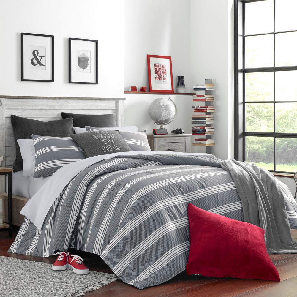 Craver 3-Piece Charcoal Full/Queen Comforter Set