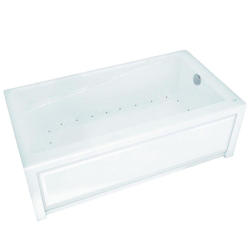 New Town 60 in. Acrylic Right Drain Rectangular Alcove Air Bath