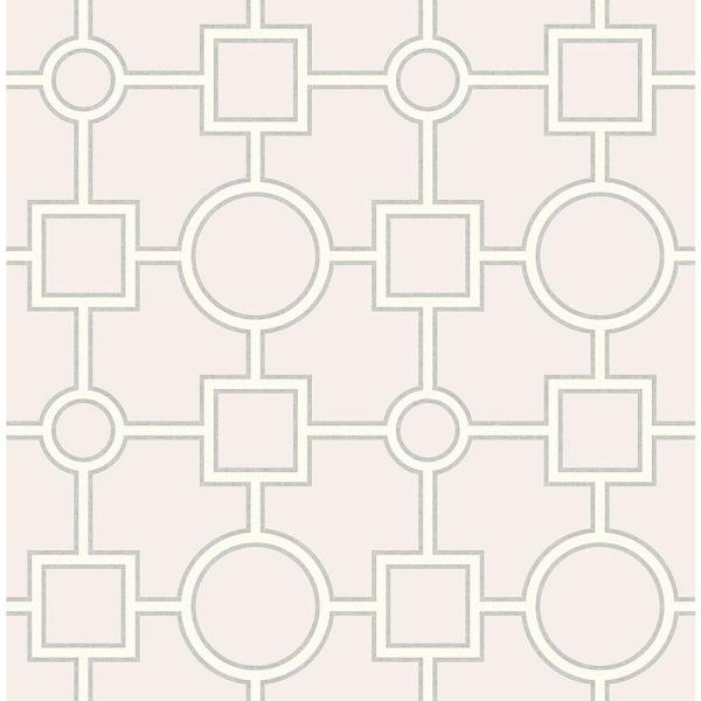 A-Street Matrix Light Grey Geometric Wallpaper Sample 2625-21809SAM