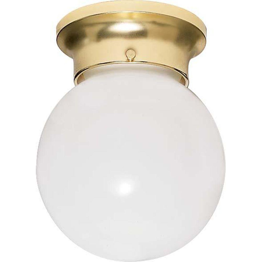 Tony 1-Light Polished Brass Flush Mount