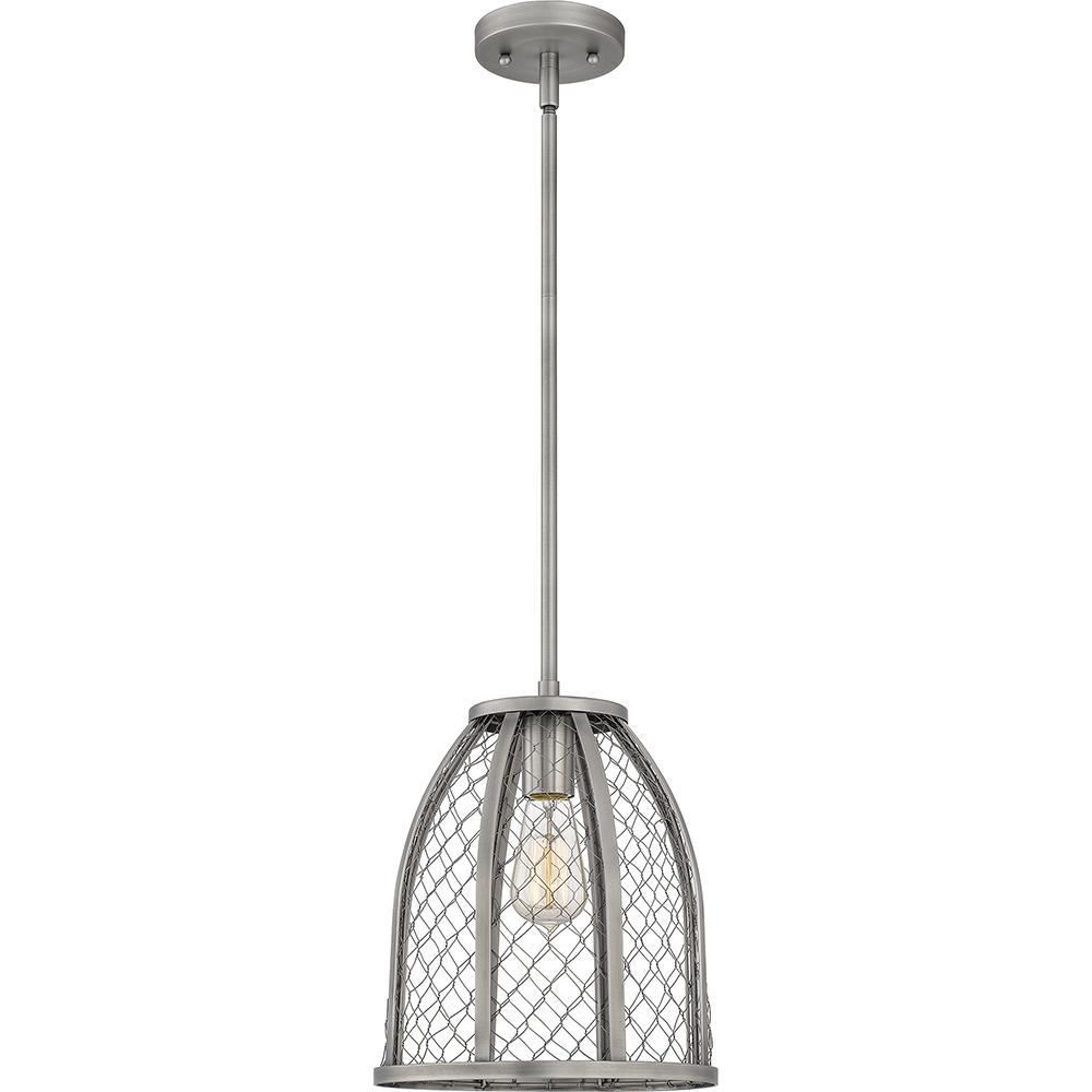 Heron 1-Light Antique Nickel Mini Pendant