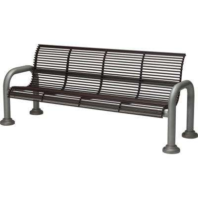 Harbor 6 ft. Contract Bench with Back in Hazel Nut