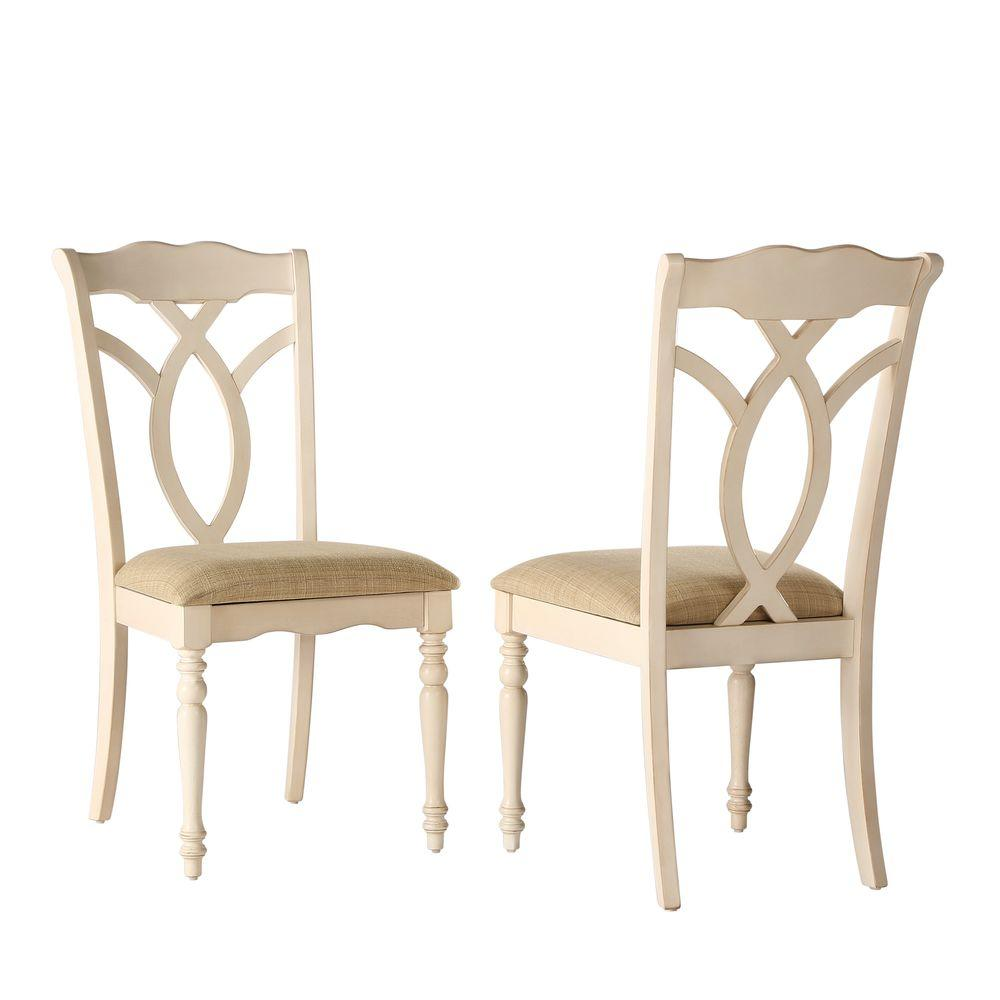 Homesullivan rosemont antique white wood dining chair set of 2
