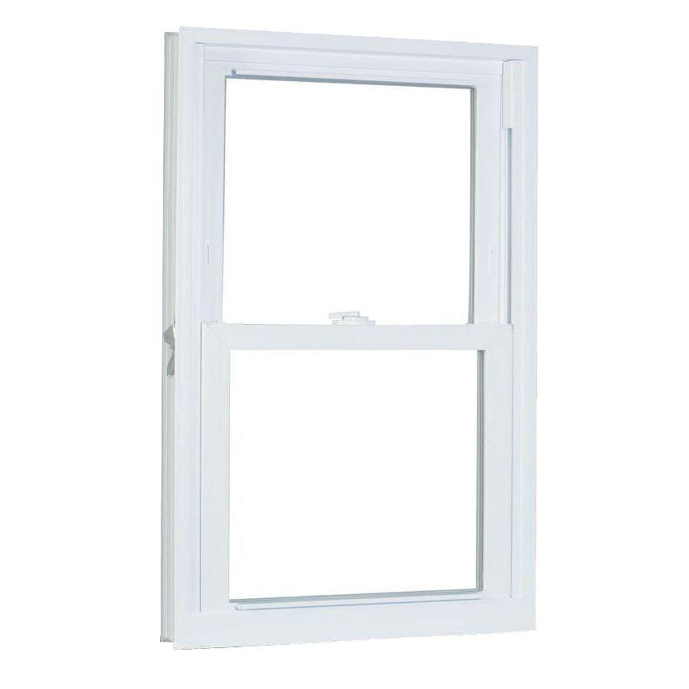 American Craftsman 29.75 in. x 41.25 in. 70 Series Pro Double Hung White Vinyl Window with Buck Frame