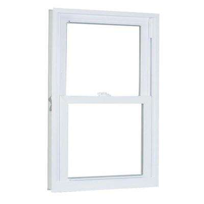 29.75 in. x 41.25 in. 70 Series Pro Double Hung White Vinyl Window with Buck Frame