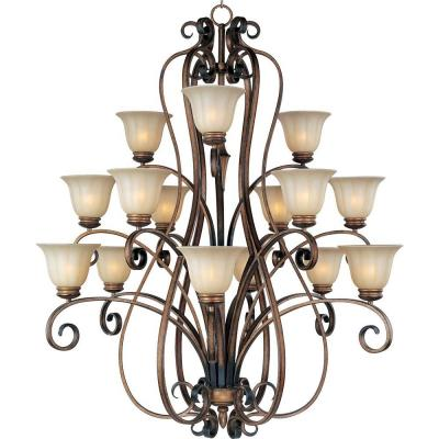 Fremont 15-Light Platinum Dusk Chandelier