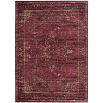 Vintage Raspberry 8 ft. 10 in. x 12 ft. 2 in. Area Rug