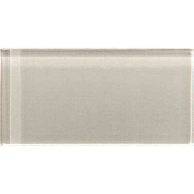 Lucente Morning Fog 3.15 in. x 6.46 in. Glass Wall Tile