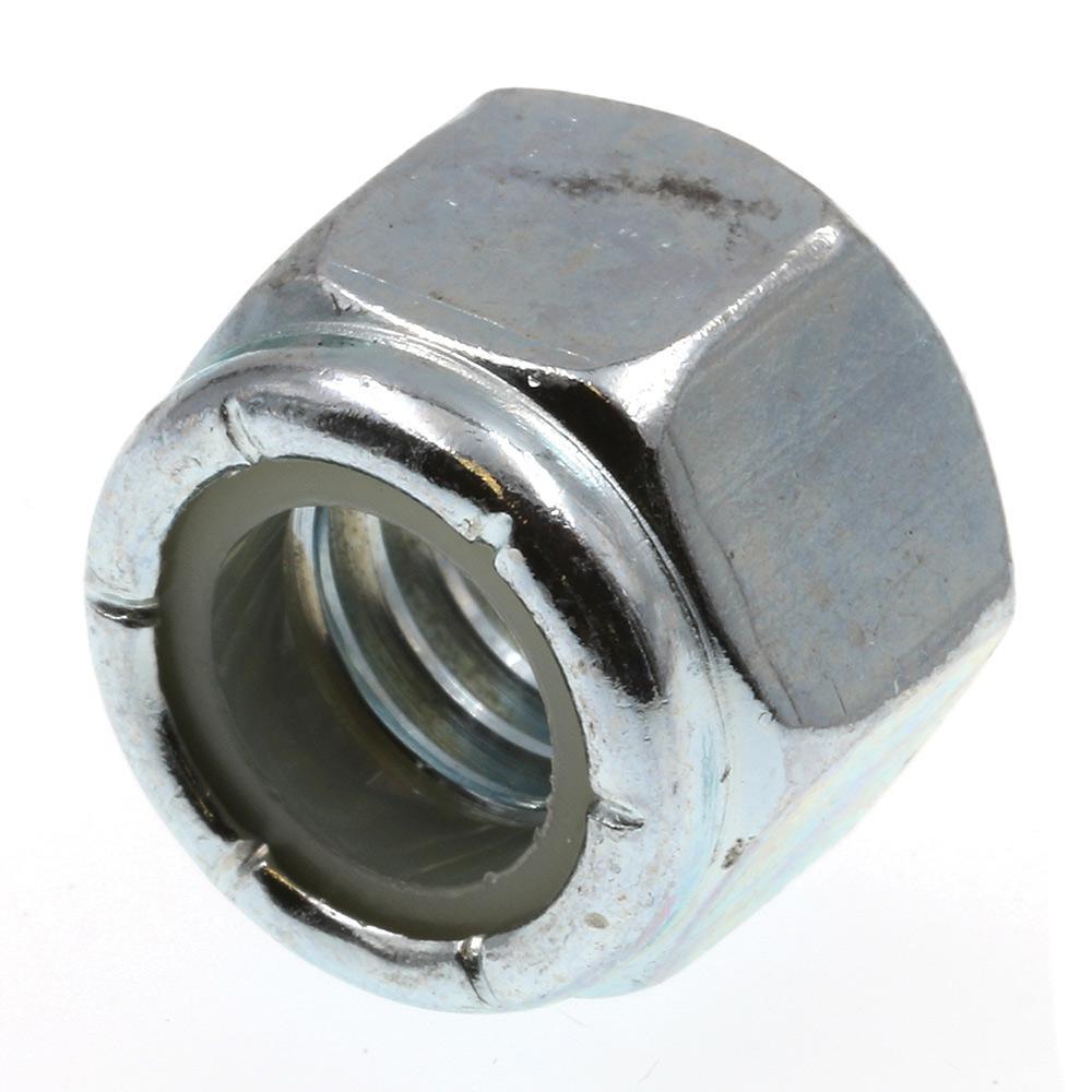 3/8 in.-16 Grade 2 Zinc Plated Steel Nylon Insert Lock Nuts (25-Pack)