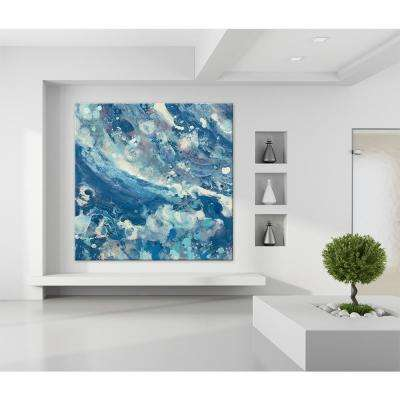 """72 in. x 72 in. """"Water IV"""" by Albena Hristova Printed Framed Canvas Wall Art"""