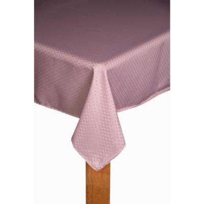 Chelton 60 in. x 84 in. Dusty Rose 100% Polyester Tablecloth