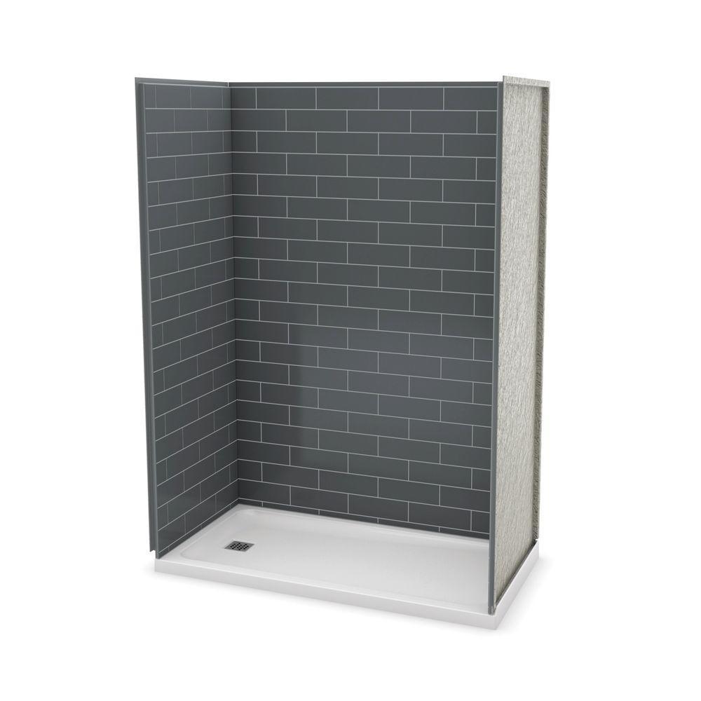 MAAX Utile Metro 32 in. x 60 in. x 83.5 in. Alcove Shower Stall in ...