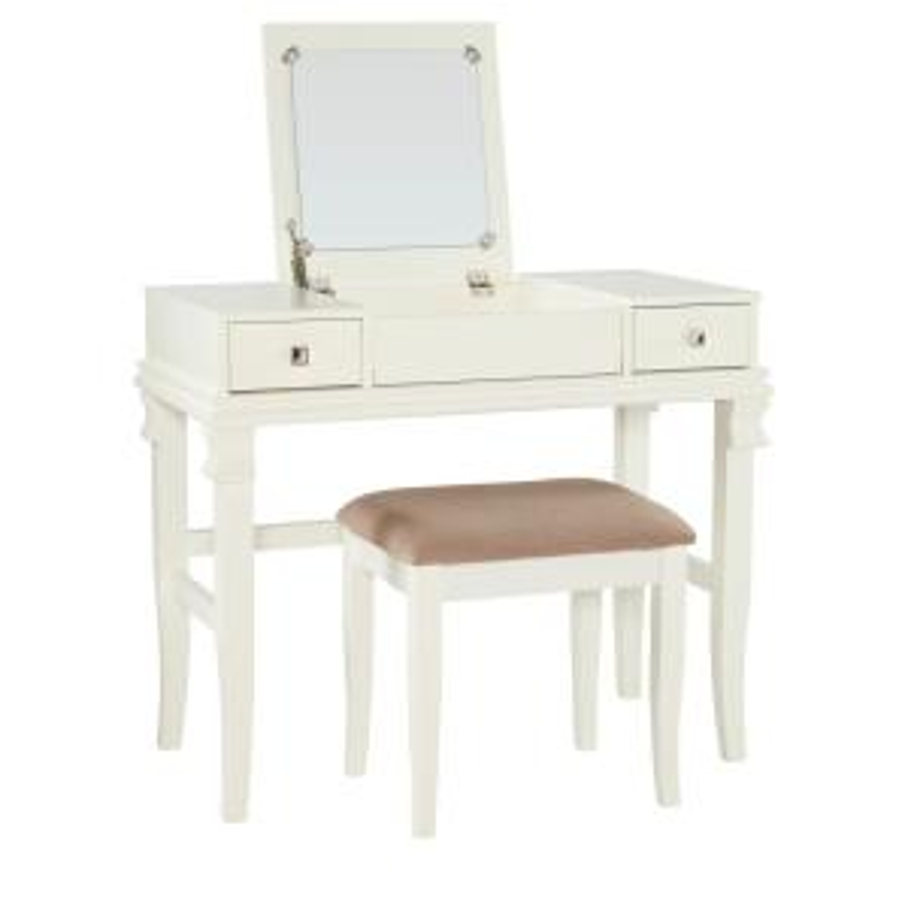 Angela 2-Piece White Vanity Set
