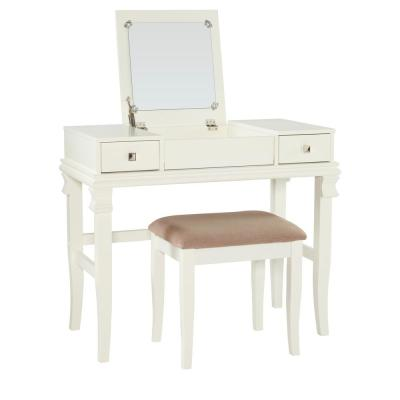 Flip Top Makeup Vanities Bedroom Furniture The Home Depot