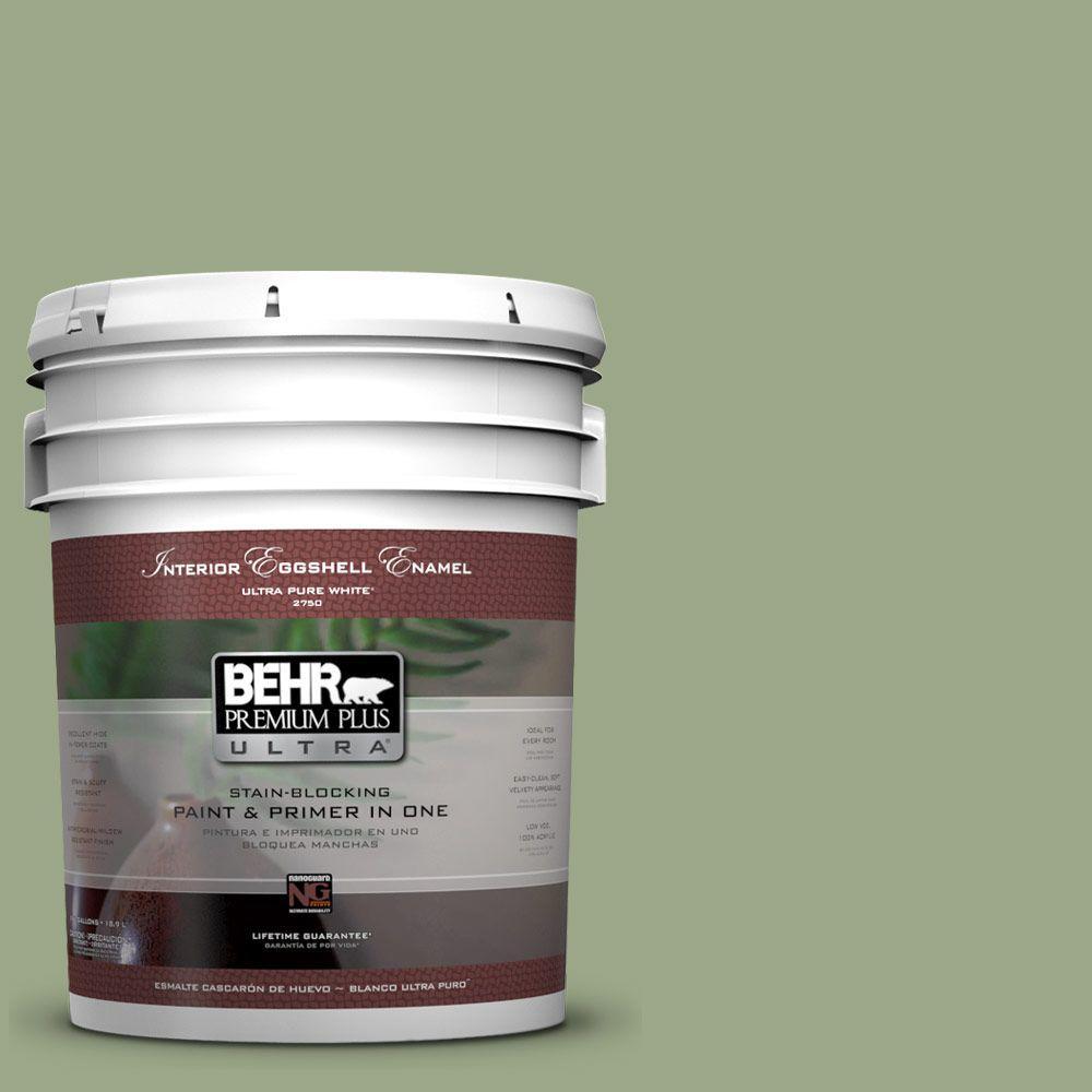 BEHR Premium Plus Ultra 5-gal. #PPU11-7 Clary Sage Eggshell Enamel Interior Paint