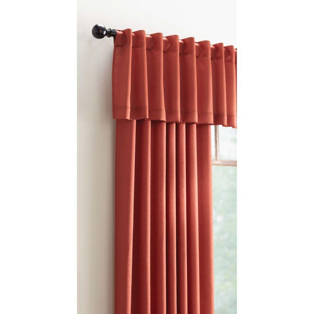 Home decorators collection 15 in l monaco lined polyester valance in terracotta monaco 804 409 Home decorators collection valance