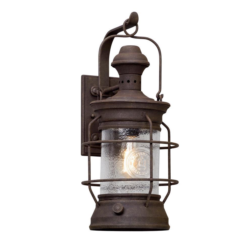 Troy Lighting Atkins Centennial Rust Outdoor Wall Lantern Sconce