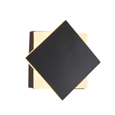 Eclipse 4.75 in. Black Integrated LED Sconce