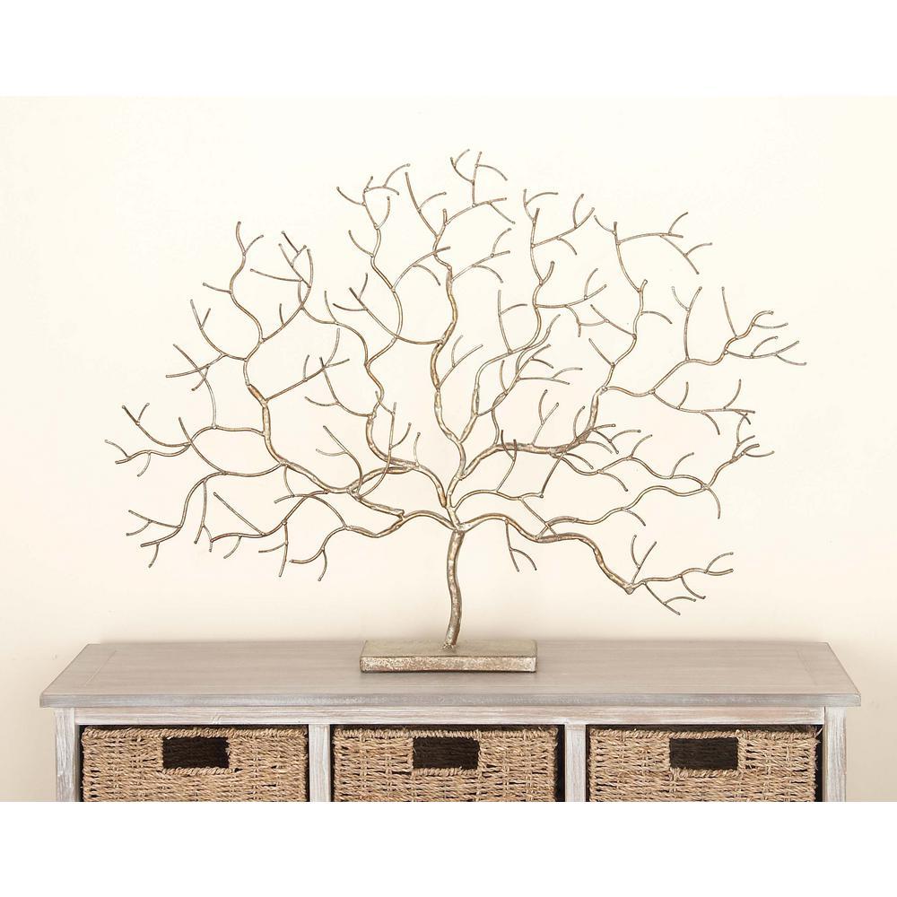 24 in. x 32 in. Autumn Tree Decorative Figurine in Colored Polystone