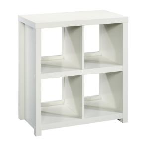 HomeVisions Soft White 4-Cube Bookcase