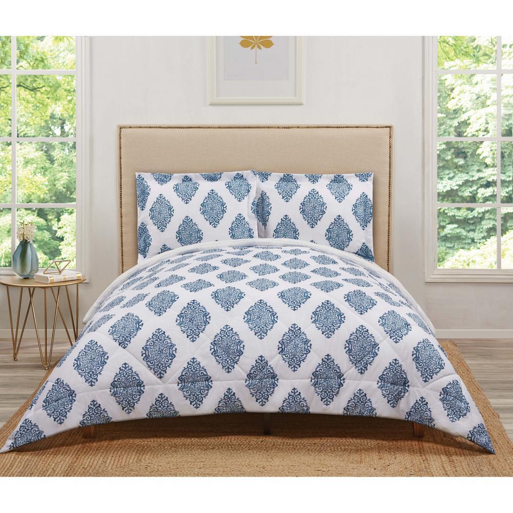 Annika Navy Full/Queen Comforter Set