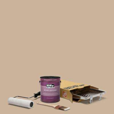 1 gal. #PPU4-07 Mushroom Bisque Extra Durable Eggshell Enamel Int. Paint & 5-Piece Wooster Set All-in-One Project Kit