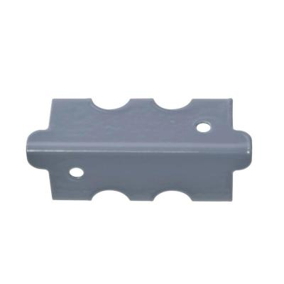 4 in. H x 1.375 in. W x 1.375 in. D Steel Post Coupling Outer Grey (4 Pack)