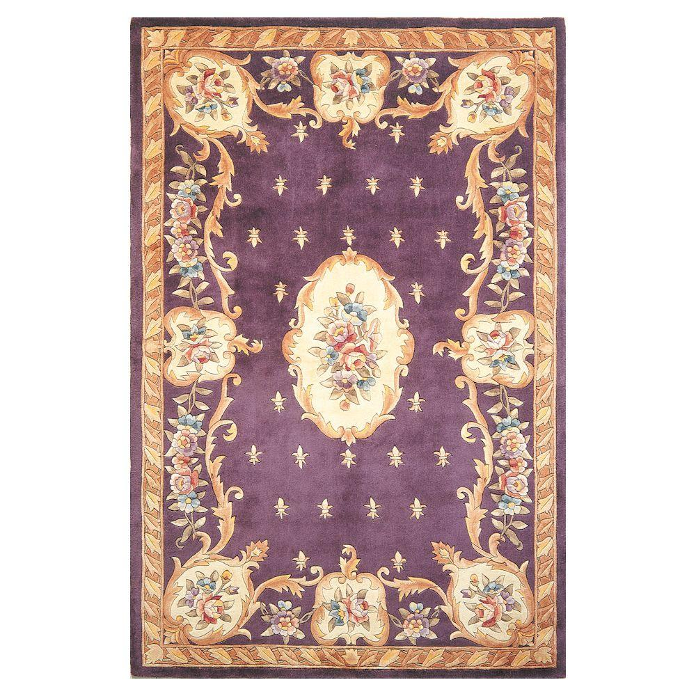 Kas Rugs Classy Aubusson Plum 8 Ft. X 10 Ft. 6 In. Area